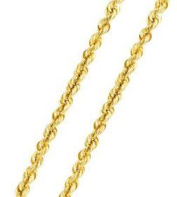 Corrente de Ouro 18k Cordão Torcido 50cm