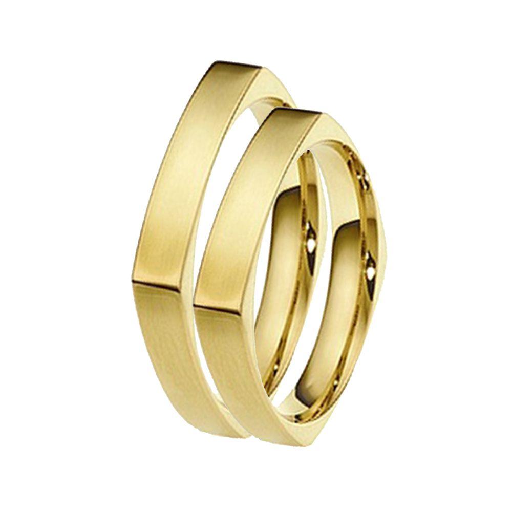 Alianças de Casamento de Ouro 4.0mm Quartu Sant'Elena - AL523