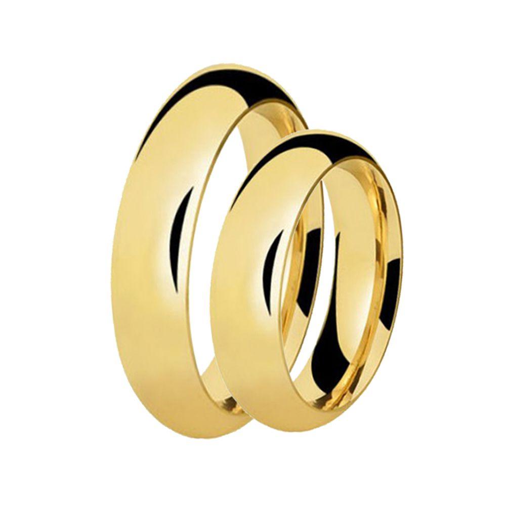Alianças de Casamento de Ouro Tradicional 6.0mm - AL578