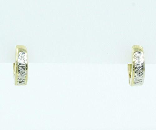 Brincos De Ouro 18k750 Diamantes B765