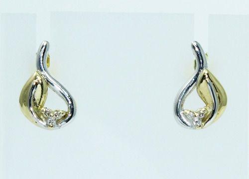 Brincos De Ouro 18k750 Diamantes B620