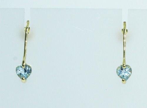 Brincos De Ouro 18k750 Topázio Azul B600