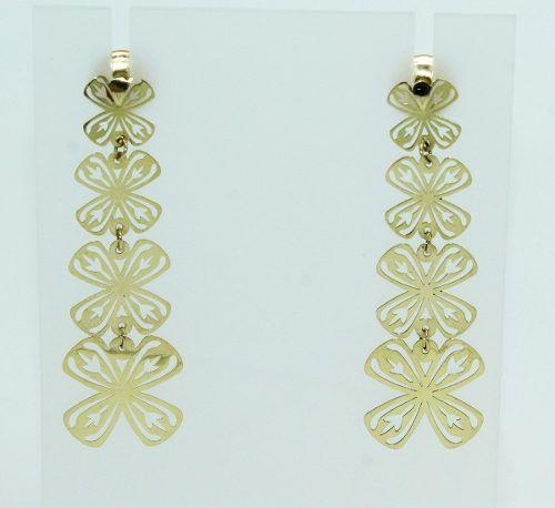 Brincos De Ouro 18k750 Flores B461