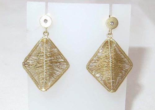 Brincos De Ouro 18k750 Diamante Grife Vivara B454