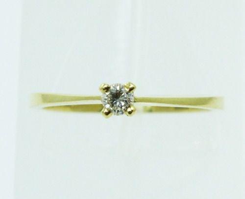Anel De Ouro 18k750 Diamante 2239