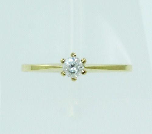 Anel De Ouro 18k750 Diamante 2237