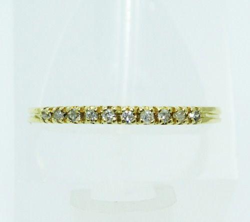 Anel De Ouro 18k750 Diamantes 2236
