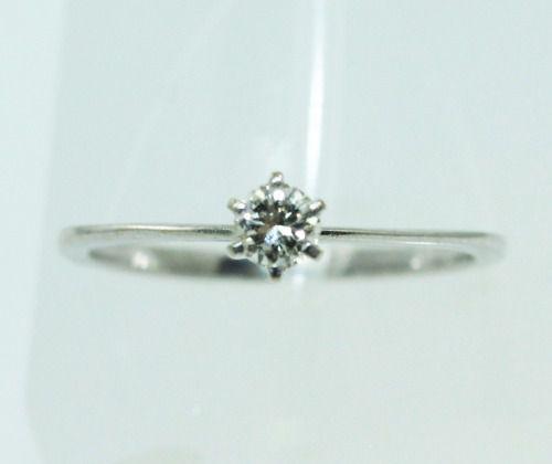 Anel De Ouro Branco 18k750 Diamante 2233