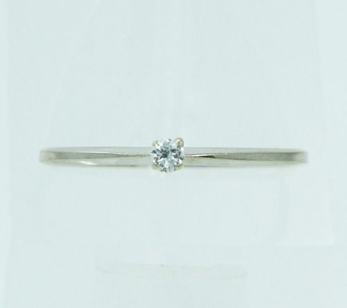 Anel De Ouro Branco 18k750 Diamante 2231