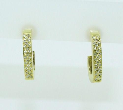 Brincos De Ouro 18k750 Diamantes B831