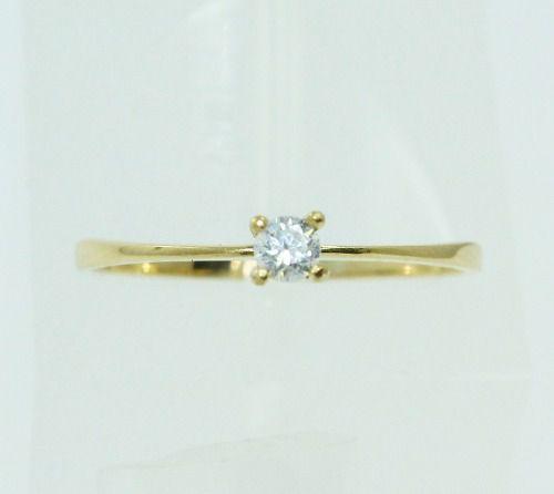 Anel De Ouro 18k750 Diamante 2225