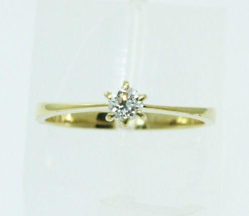 Anel De Ouro 18k750 Diamante 2228