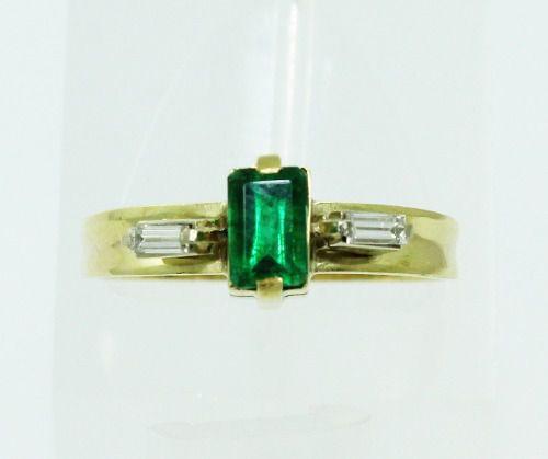 Anel De Ouro 18k750 Diamante Esmeralda 2227