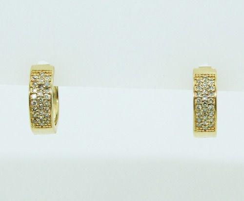 Brincos De Ouro 18k750 Diamantes B829
