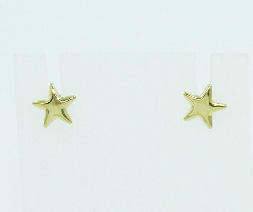 Brincos De Ouro 18k750 Estrela B827