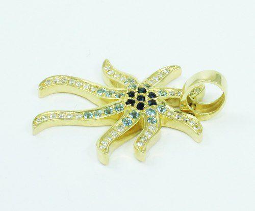Pingente De Ouro 18k750 Diamantes P637