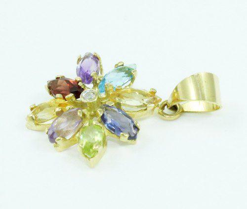 Pingente De Ouro 18k750 Diamante P636