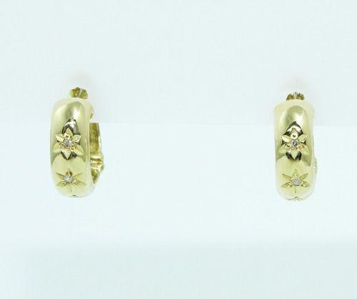 Brincos De Ouro 18k750 Diamantes B824