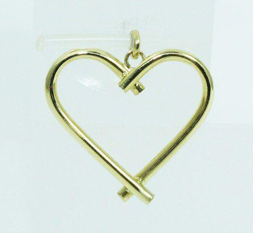 Pingente De Ouro 18k750 Coração P618