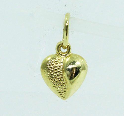 Pingente De Ouro 18k750 Coração P617
