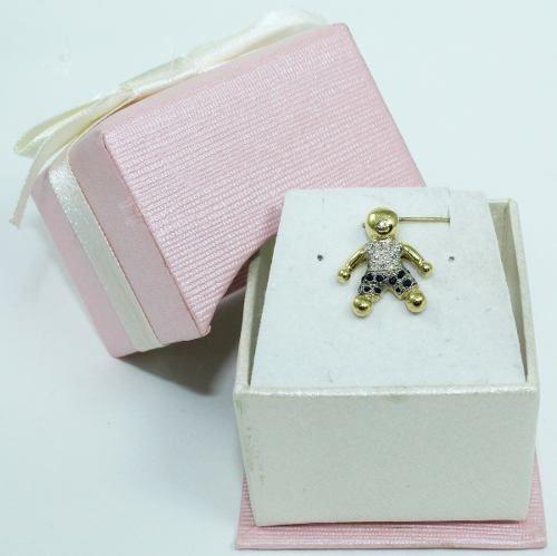 Pingente De Ouro 18k750 Menino Diamantes P614