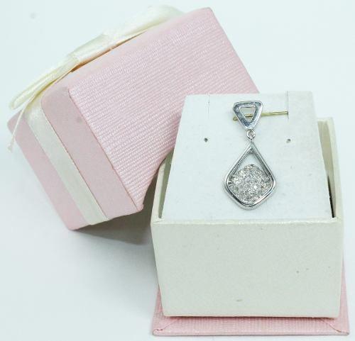 Pingente De Ouro Branco 18k750 Diamantes P604