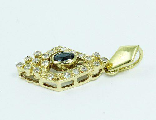 Pingente De Ouro Branco 18k750 Diamantes P601