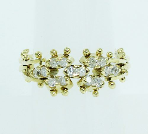 Anel De Ouro 18k750 Móvel Diamantes 2004