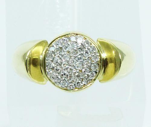 Anel De Ouro 18k750 Diamantes 2006