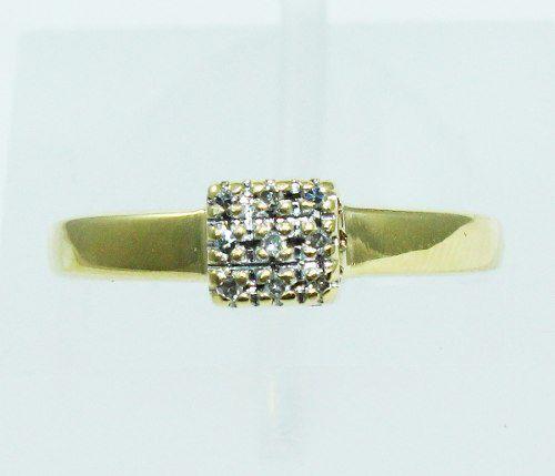 Anel De Ouro 18k750 Diamantes 2000