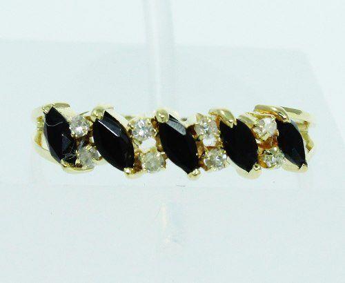 Anel De Ouro 18k750 Diamantes Ônix 1986