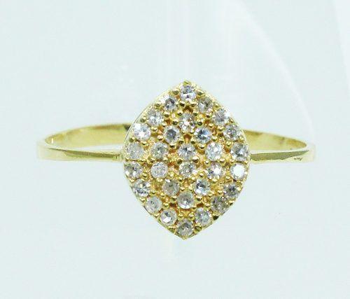 Anel De Ouro 18k750 Diamantes 1987