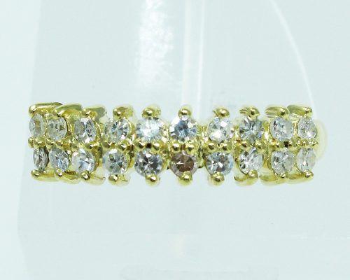 Anel De Ouro 18k750 Diamantes 1982