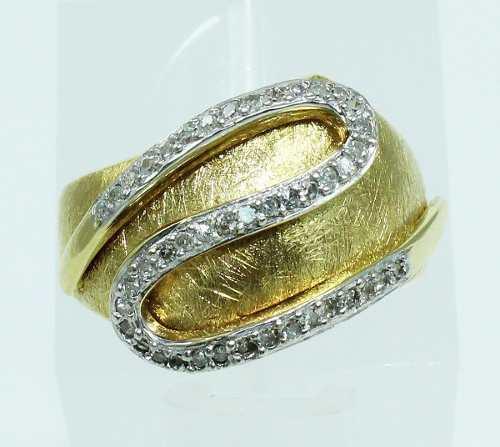 Anel De Ouro 18k750 Diamantes 1978