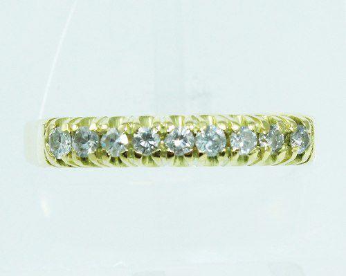 Anel De Ouro 18k750 Diamantes 1975