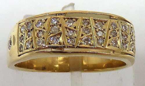 Anel De Ouro 18k 750 Diamantes 591