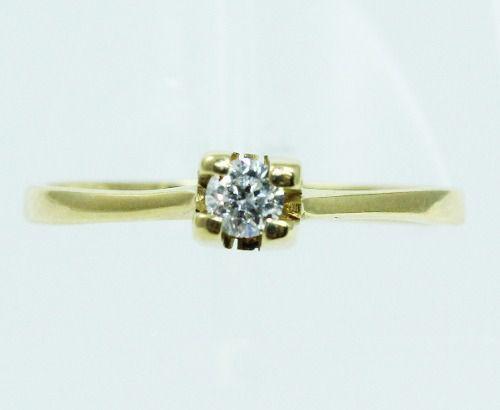 Anel De Ouro 18k750 Diamantes 1971