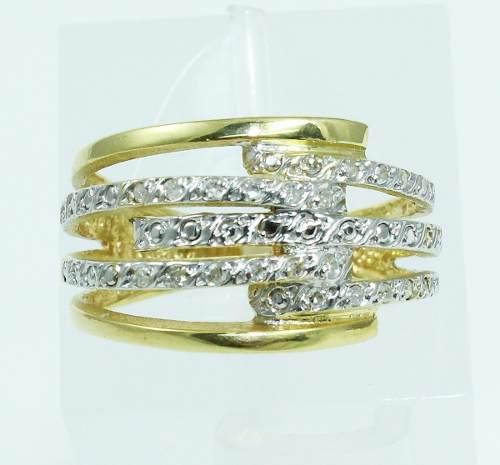 Anel De Ouro 18k750 Diamantes 1963