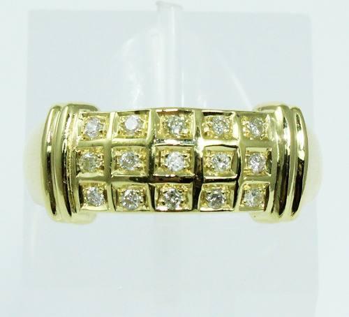 Anel De Ouro 18k750 Diamantes 1944