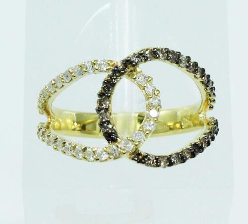 Anel De Ouro 18k750 Diamantes 1936