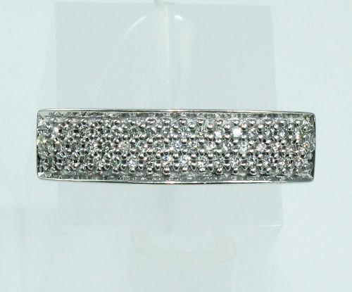 Anel De Ouro Branco 18k750 Diamantes 1927