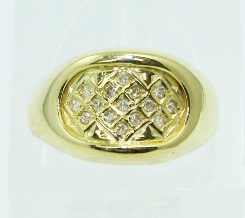 Anel De Ouro 18k750 Diamantes 2197