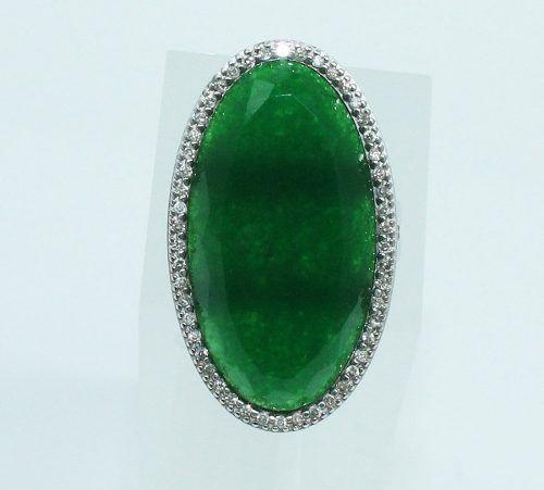 Anel De Ouro Branco 18k750 Diamantes Vivara 1921
