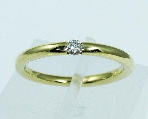 Anel De Ouro 18k750 Diamante 1912