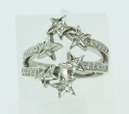 Anel De Ouro Branco 18k750 Diamantes 2254