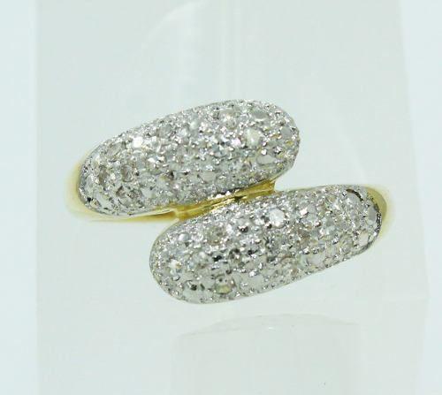 Anel De Ouro 18k750 Diamantes 2251