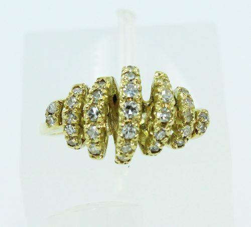 Anel De Ouro 18k750 Diamantes 2243