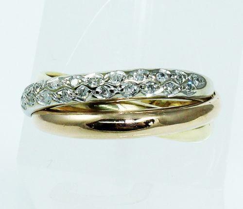 Anel De Ouro 18k750 Diamantes 1901