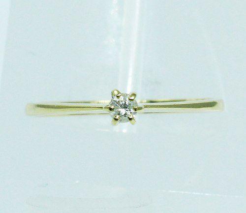 Anel De Ouro 18k750 Diamante 1898
