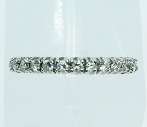 Anel De Ouro Branco 18k750 Diamantes 1893